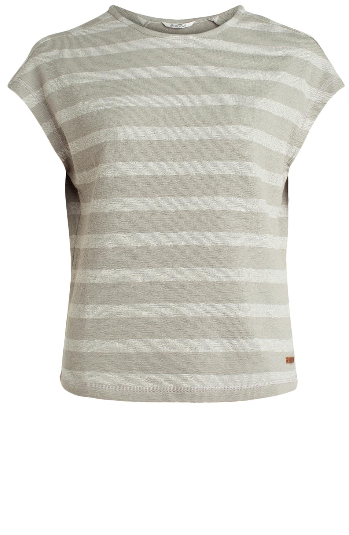 Moscow Dames Gestreept shirt Grijs
