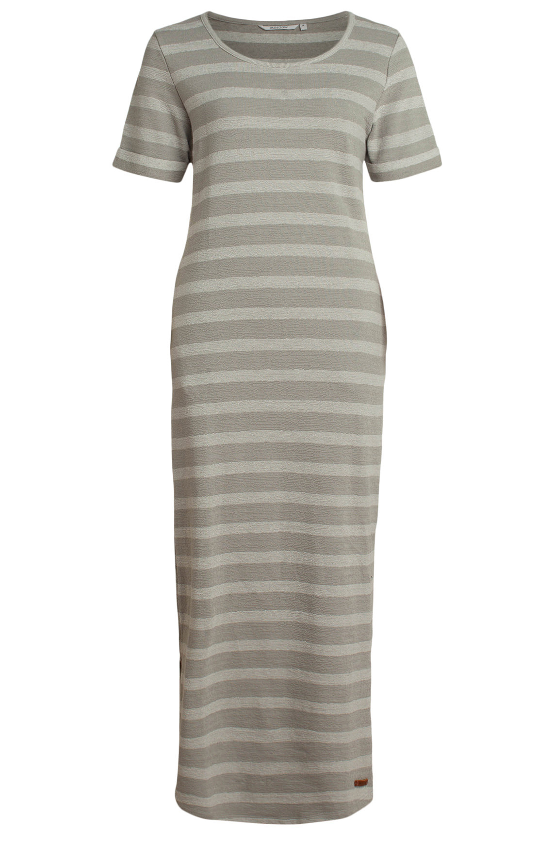 Moscow Dames Long striped dress Grijs