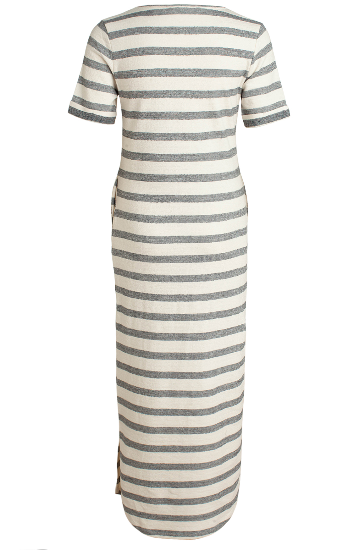 Moscow Dames Long striped dress Ecru