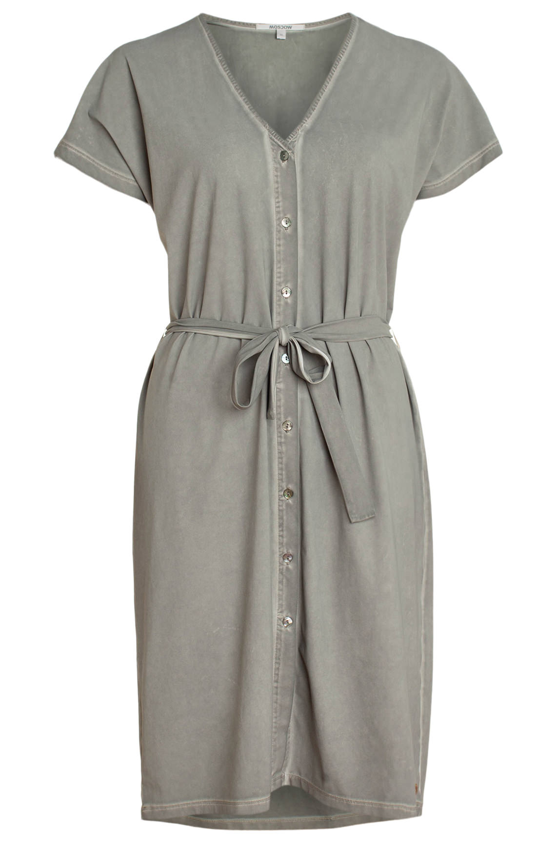 Moscow Dames Garment dye jurk Grijs