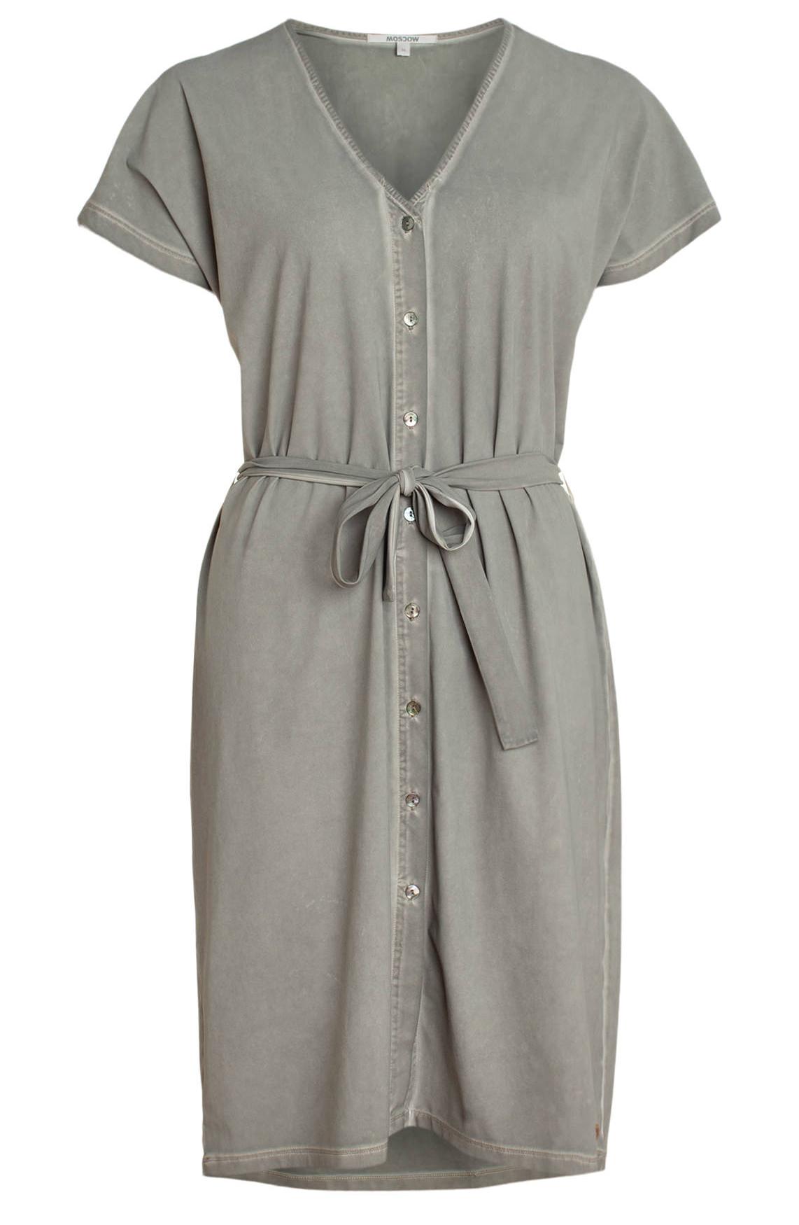 Moscow Dames Garment dye dress Grijs