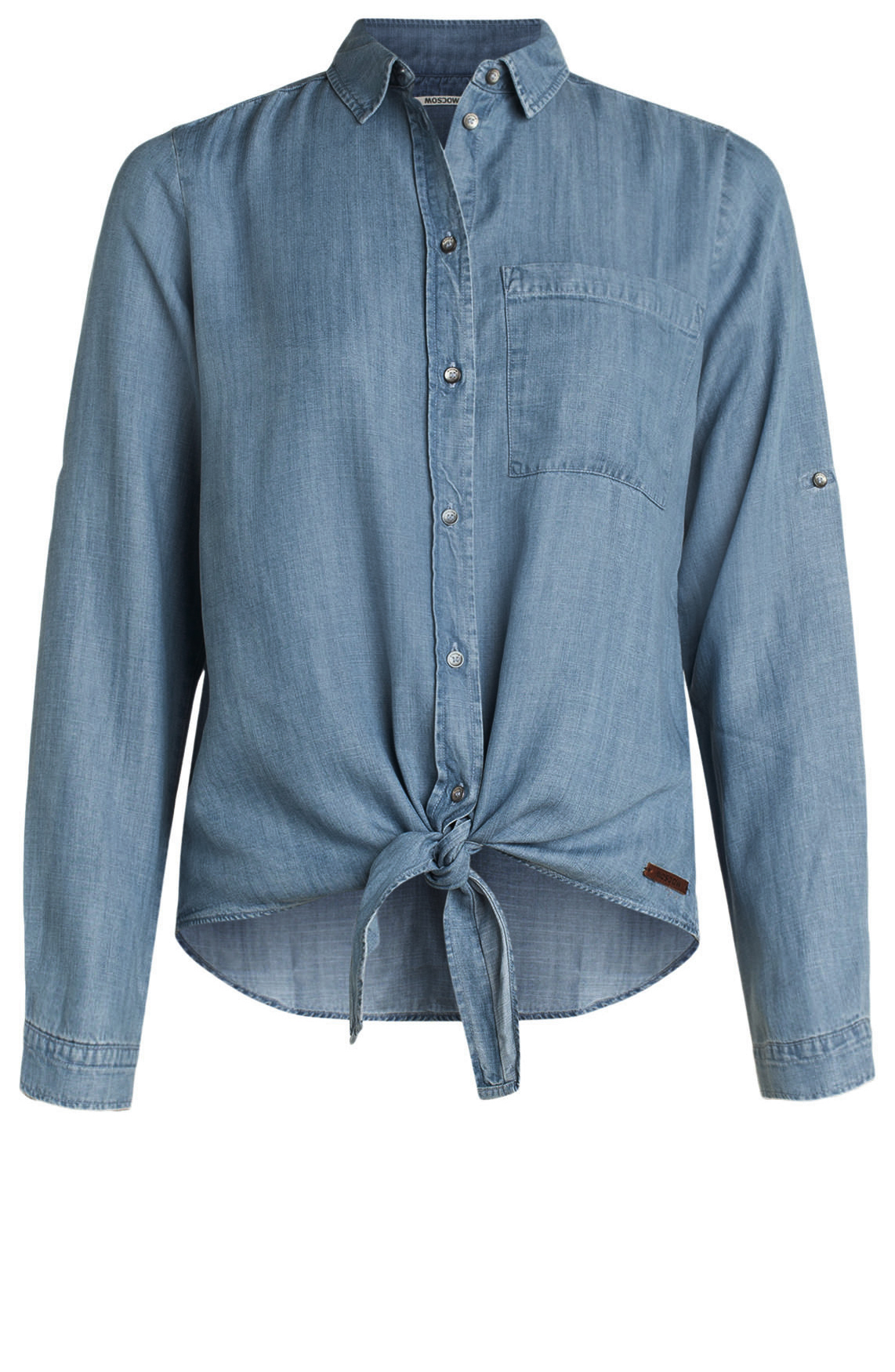 Moscow Dames Denim blouse Blauw