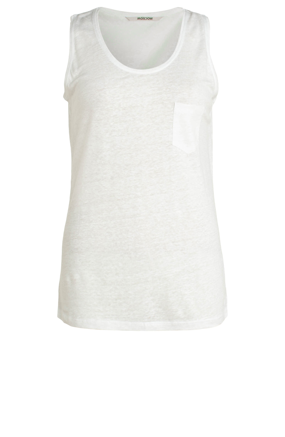 Moscow Dames Linen singlet wit