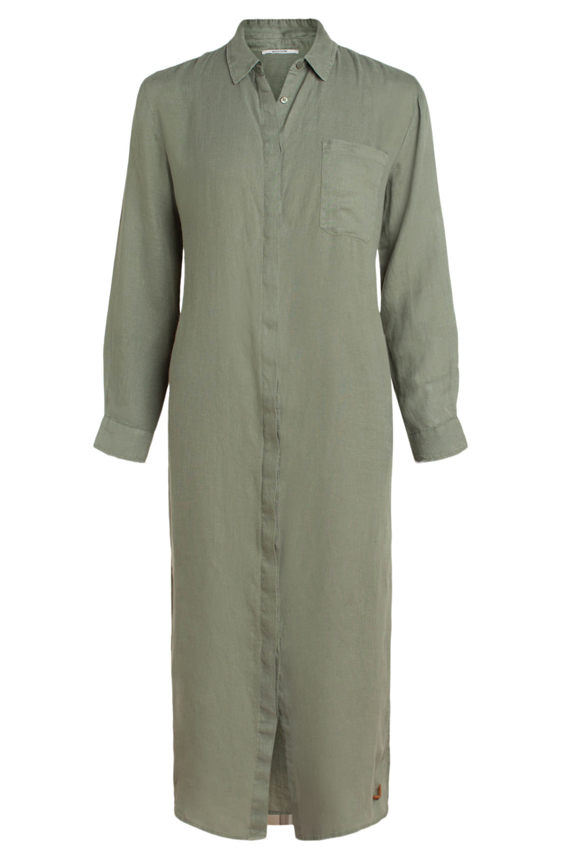 Moscow Dames Long shirt dress groen