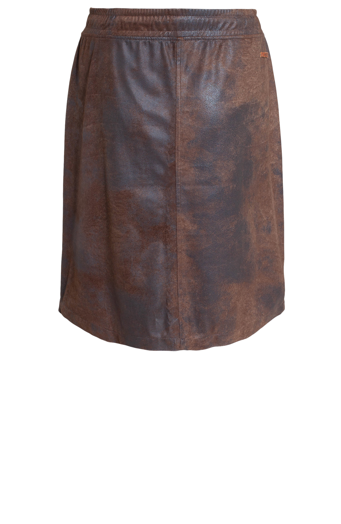 Moscow Dames Fake leather rok Bruin