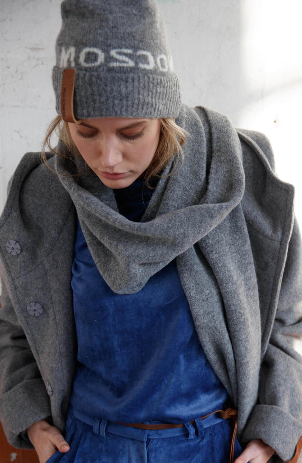 Moscow Dames Jelena scarf Grijs