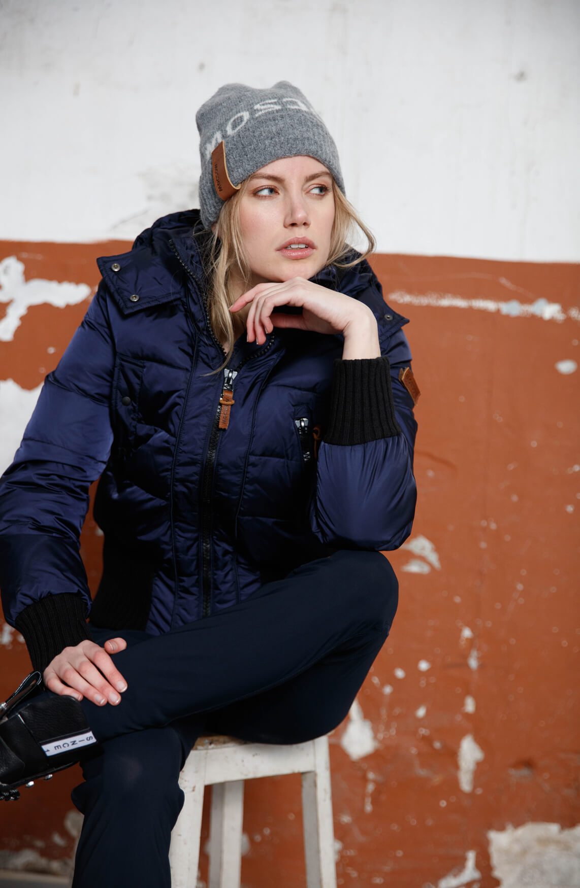Moscow Dames Aglaya jas Blauw