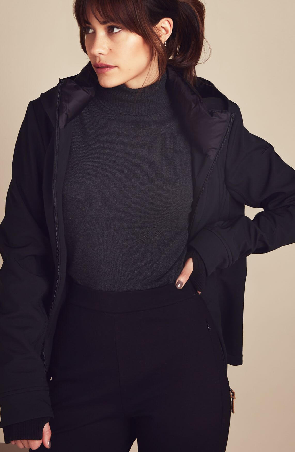 Moscow Dames Miroslava pullover with turtleneck Grijs