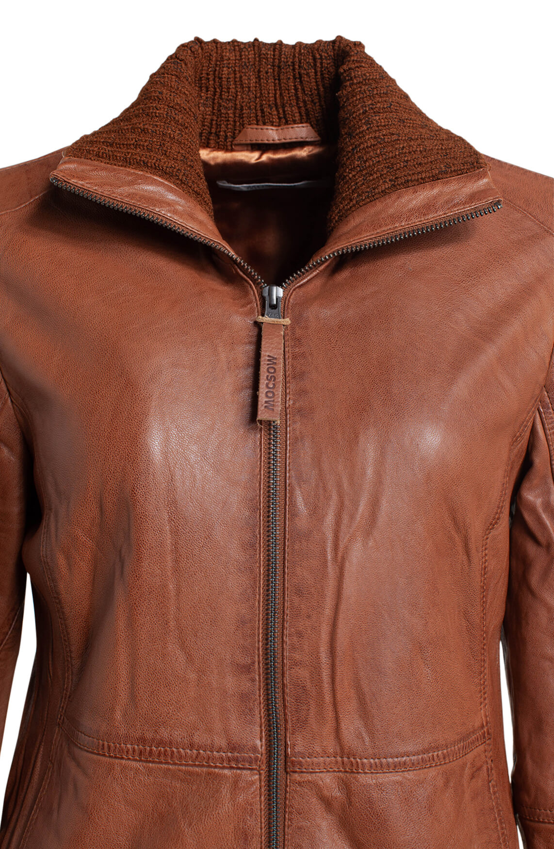 Moscow Dames Noria leather jacket Bruin