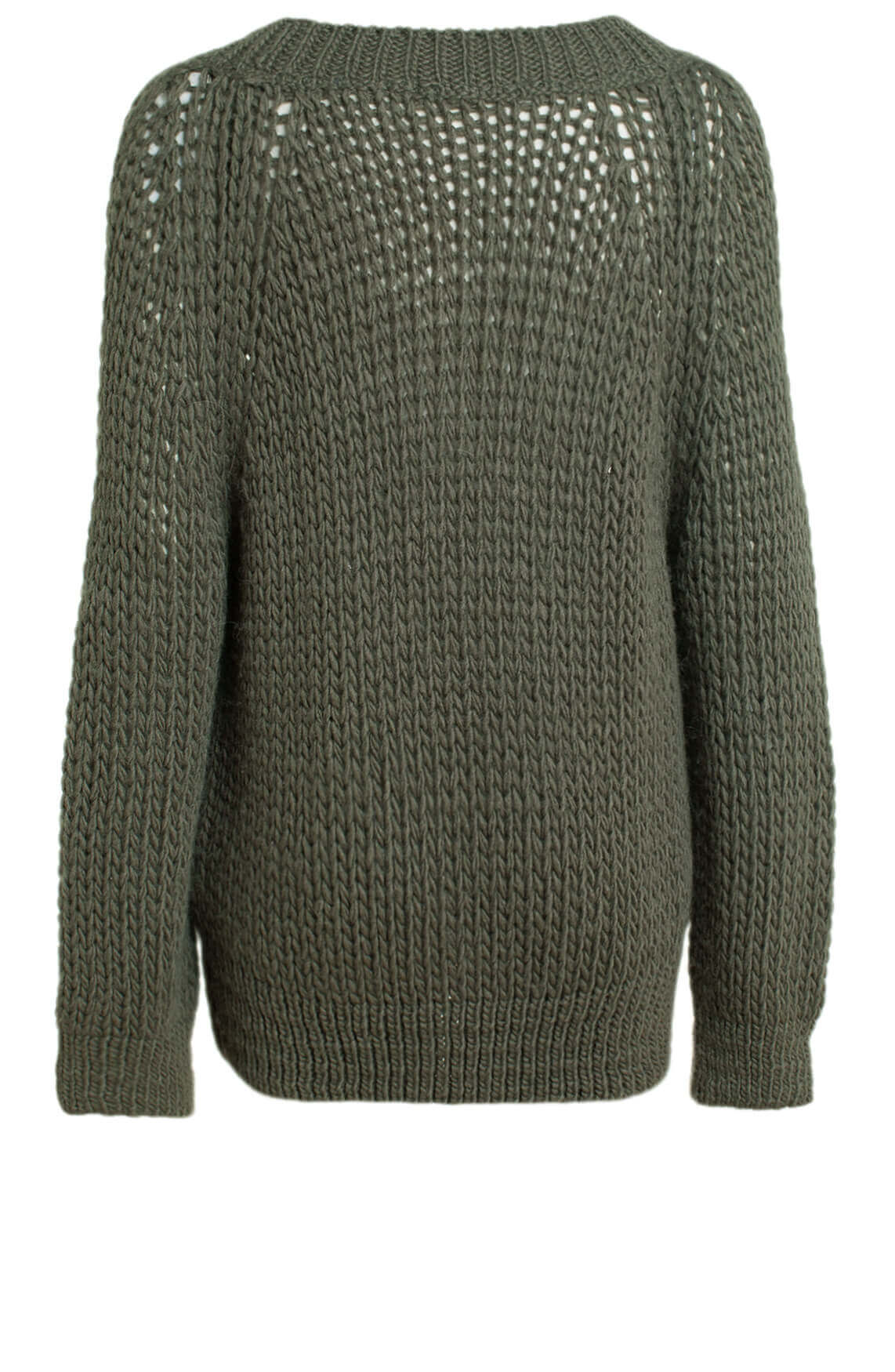 Moscow Dames Katya cable knit jumper groen