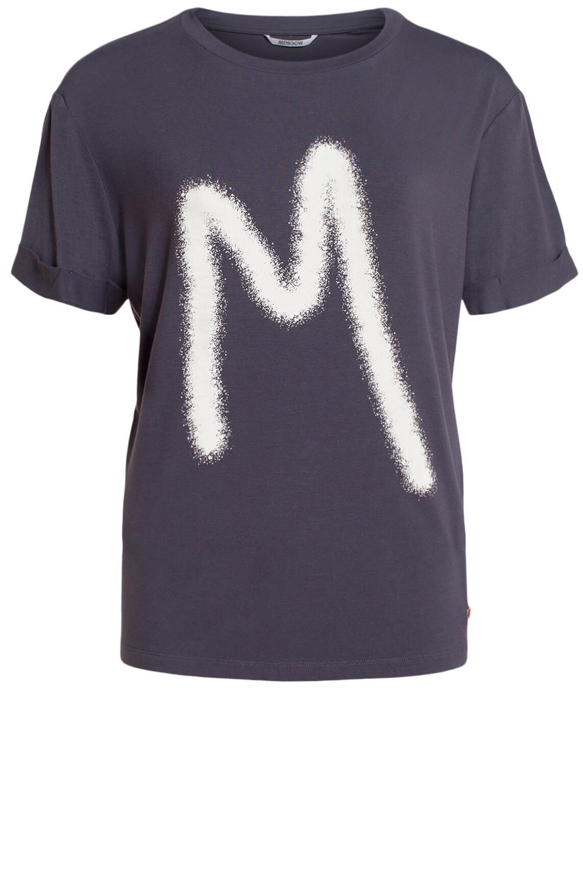 Moscow Dames Rufina logo t-shirt Grijs