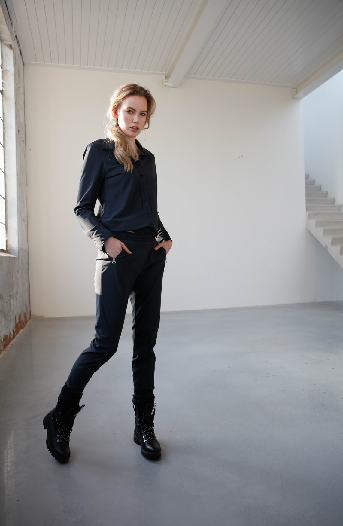 Moscow Dames Olga blouse Grijs