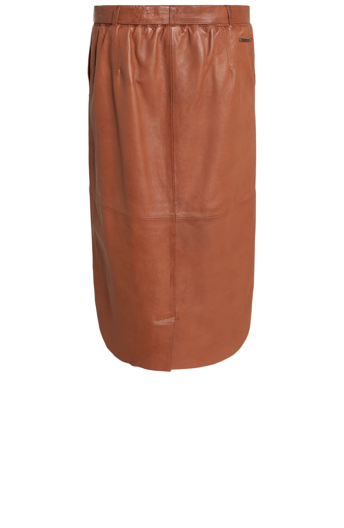 Moscow Dames Yaroslava leather skirt Bruin