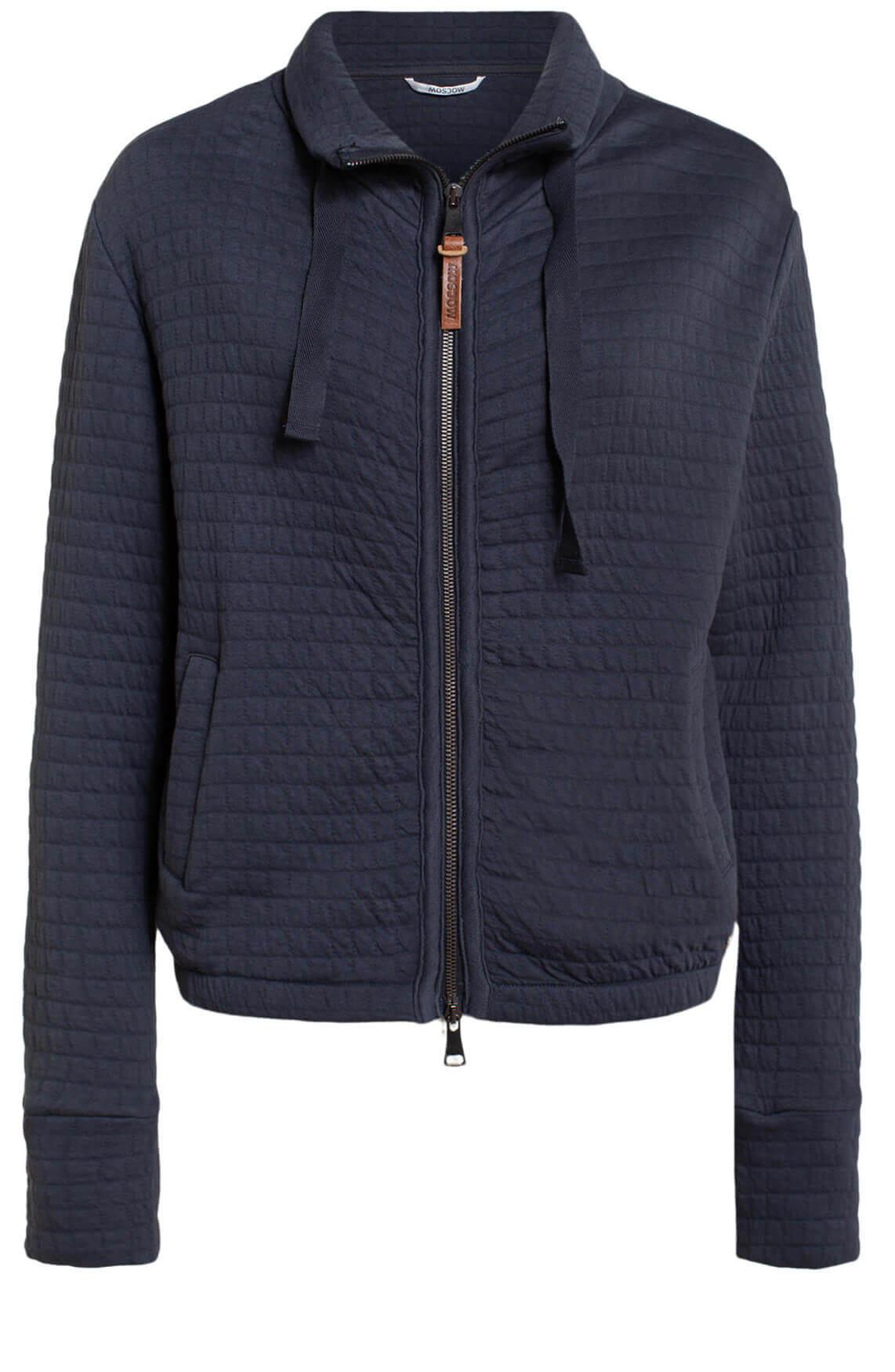 Moscow Dames Rixandra sweat jacket Blauw