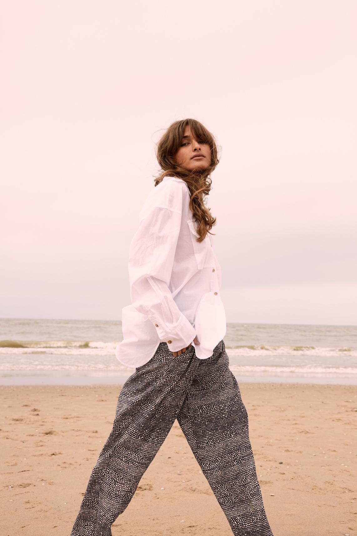 Moscow Dames Percy flowy trousers Blauw