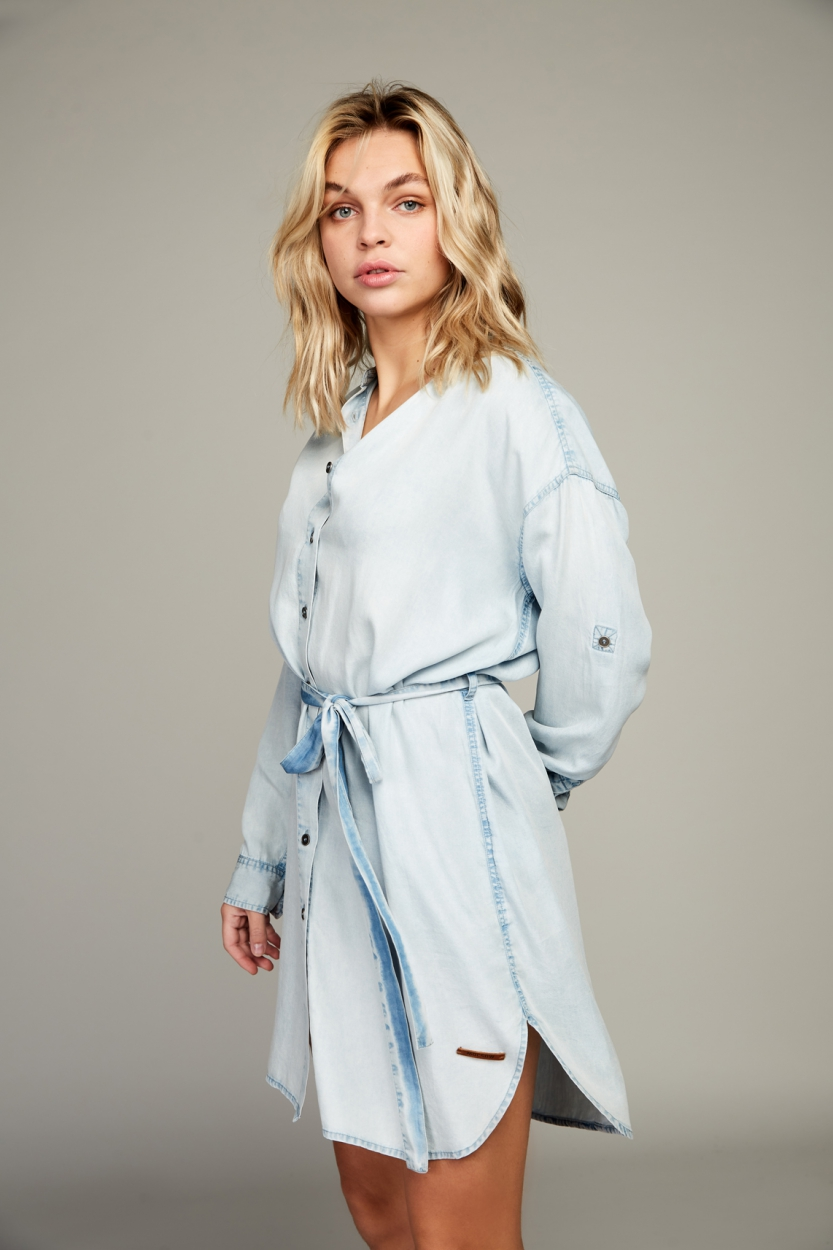 Moscow Dames Amy denim dress Blauw