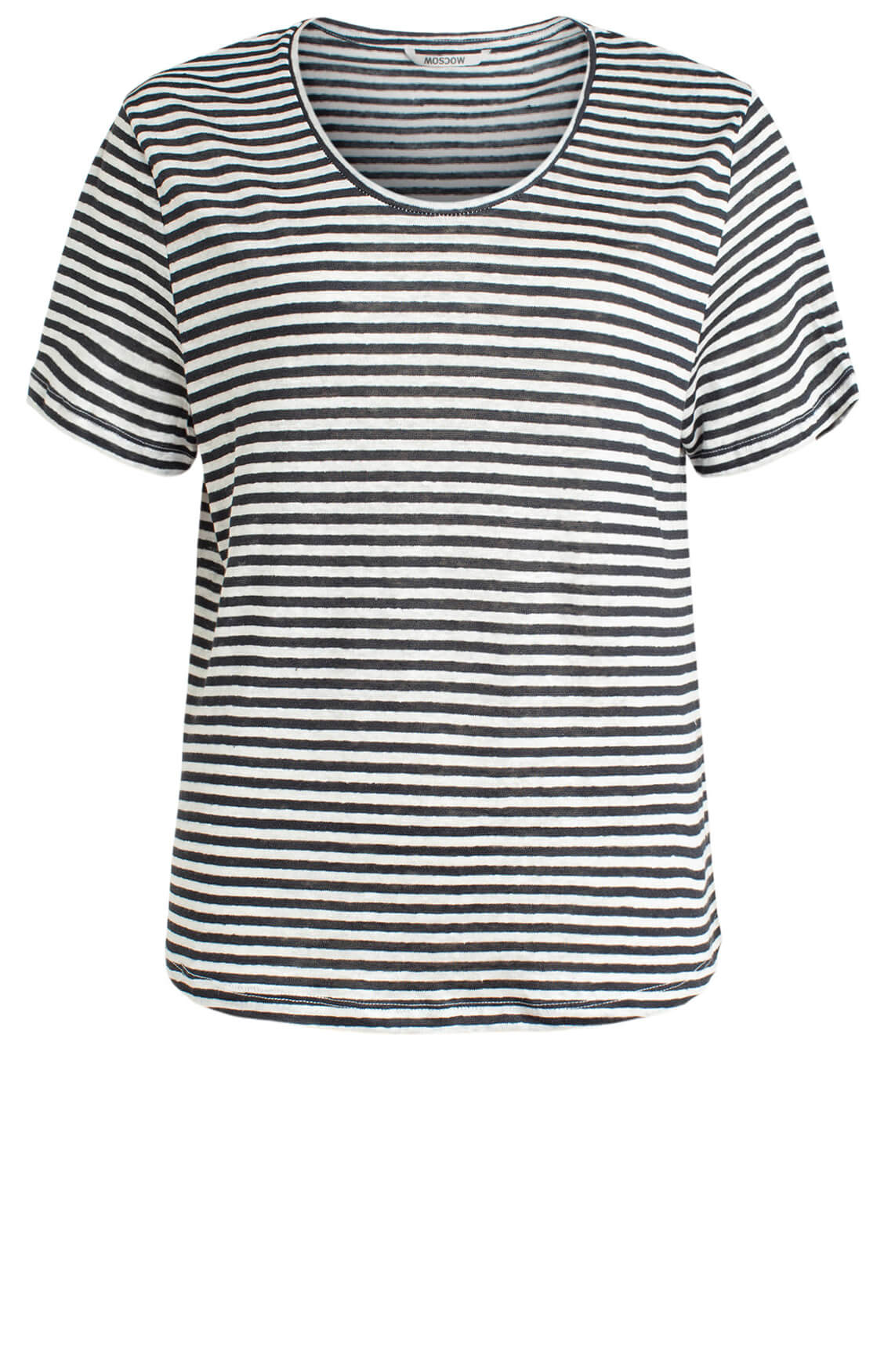 Moscow Dames Daily striped shirt Blauw