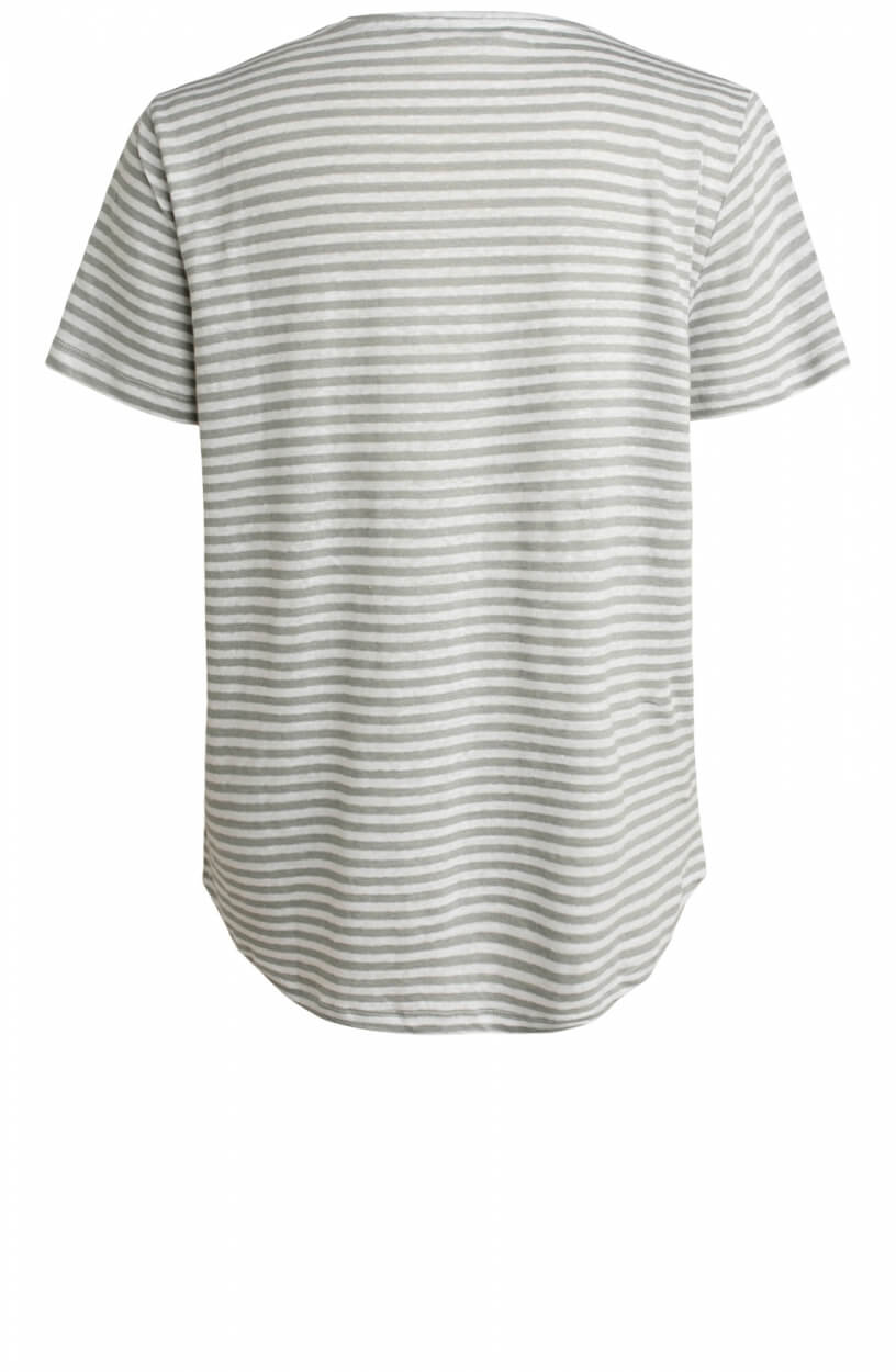 Moscow Dames Daily striped shirt Grijs