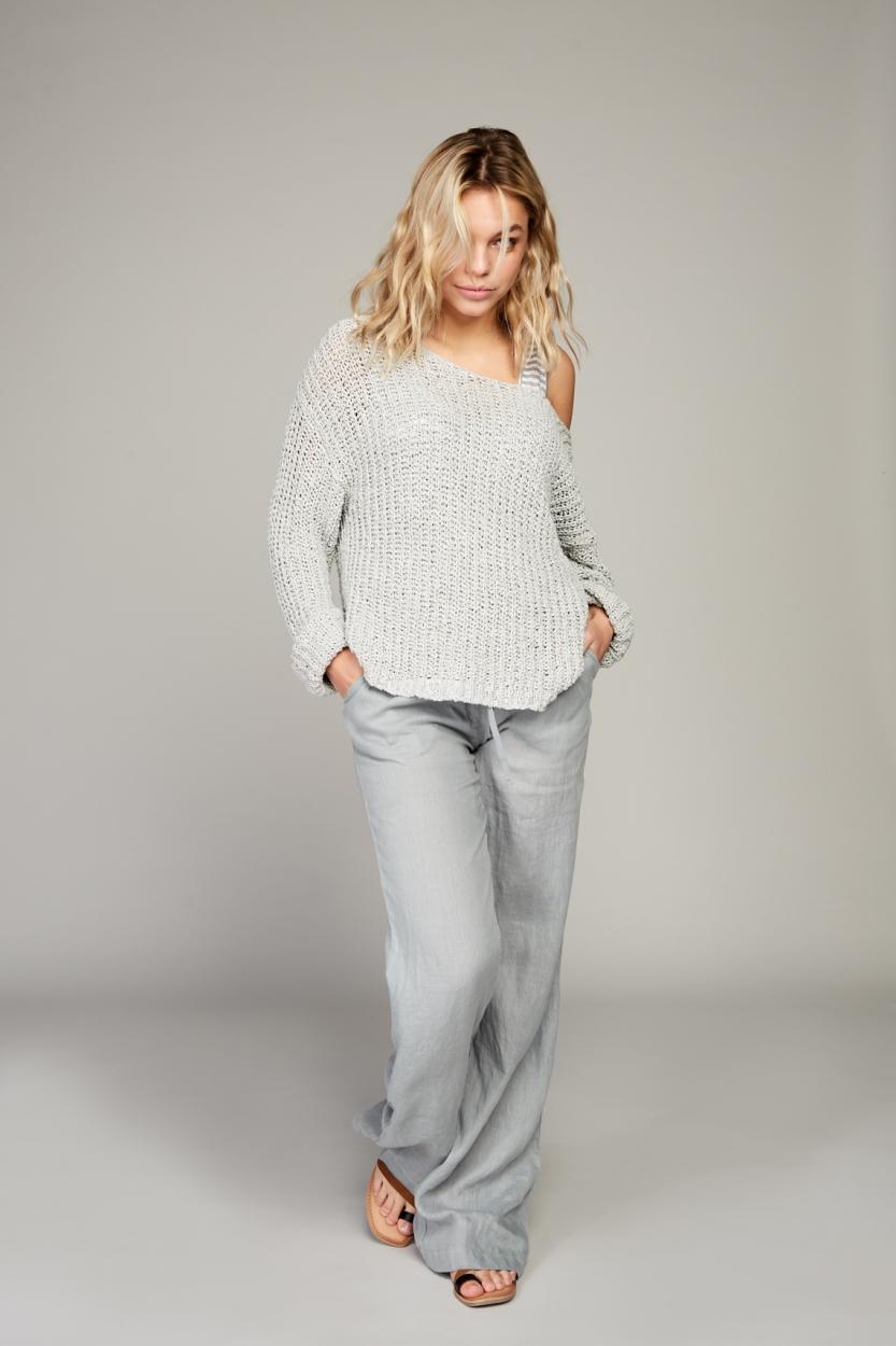 Moscow Dames Eef pullover Grijs