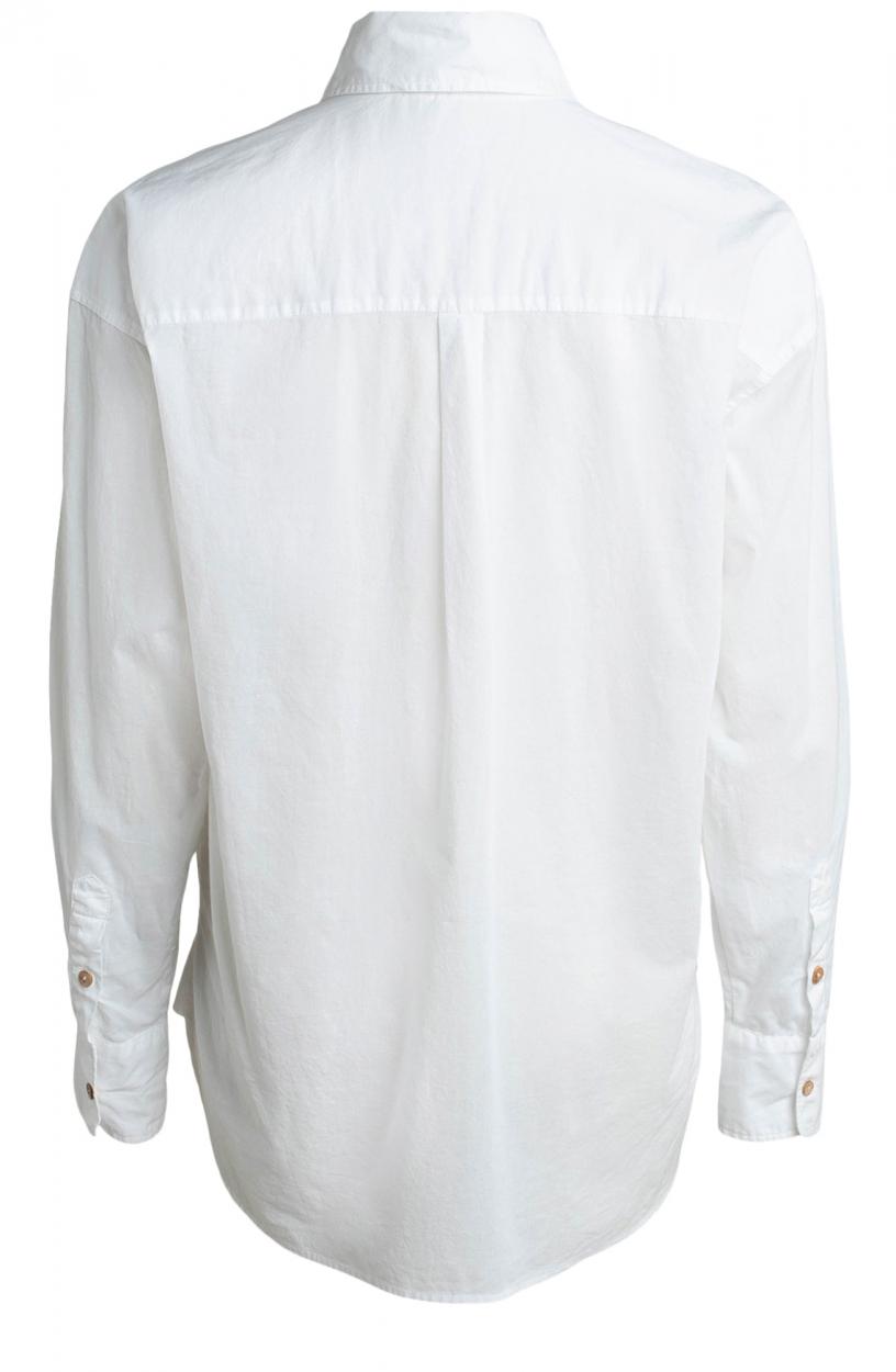 Moscow Dames Cadmandu garment dye blouse Wit