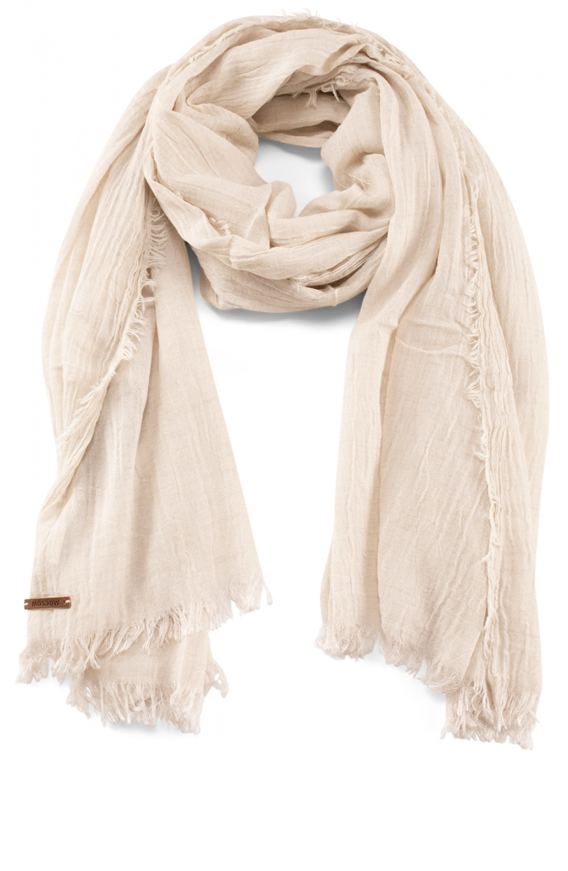 Moscow Dames Fray shawl Wit