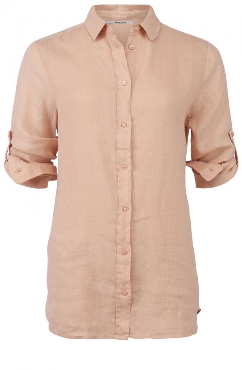 Moscow Dames Button linen blouse Roze