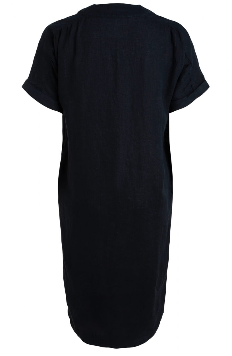 Moscow Dames Heroin linen dress Blauw