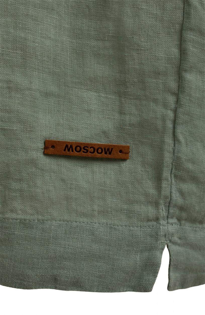 Moscow Dames Heroin linen dress Groen