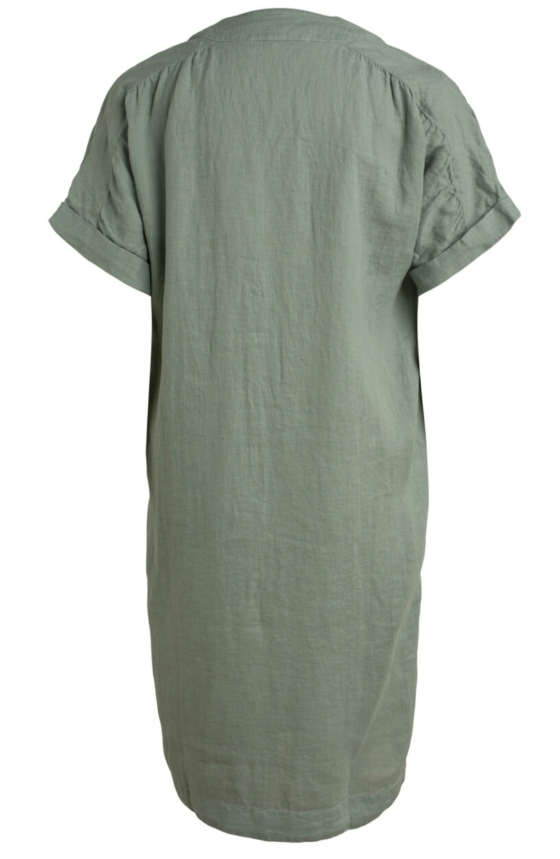 Moscow Dames Heroin linen dress Groen