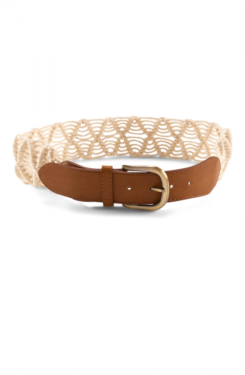Moscow Dames Macrame belt Wit