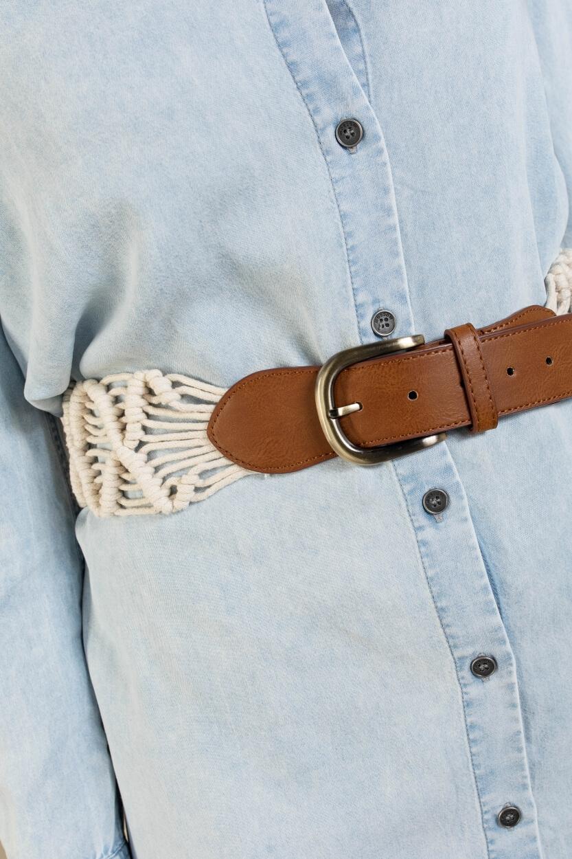 Moscow Dames Macrame belt Wit