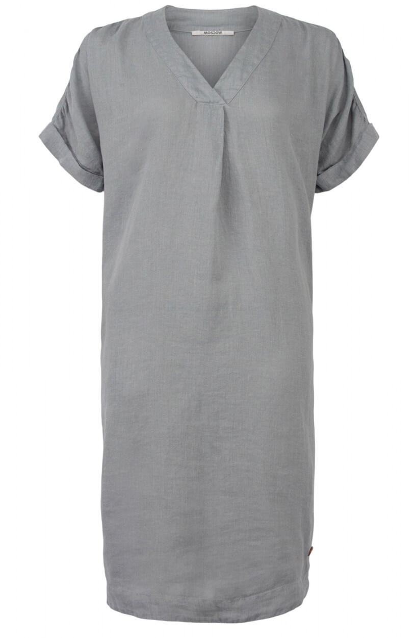Moscow Dames Heroin linen dress Grijs
