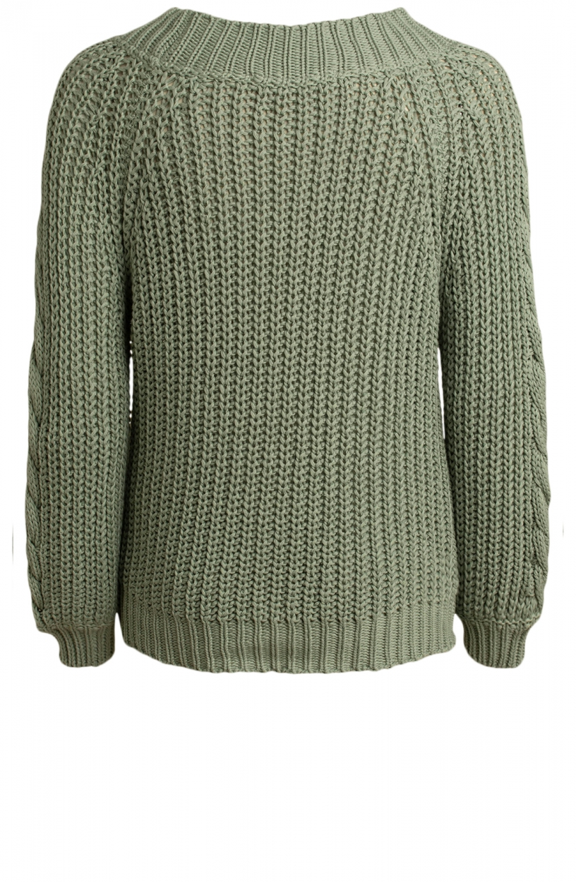 Moscow Dames Blossom knitted pullover Groen