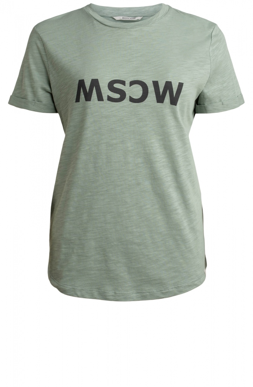 Moscow Dames Gone logo shirt Groen