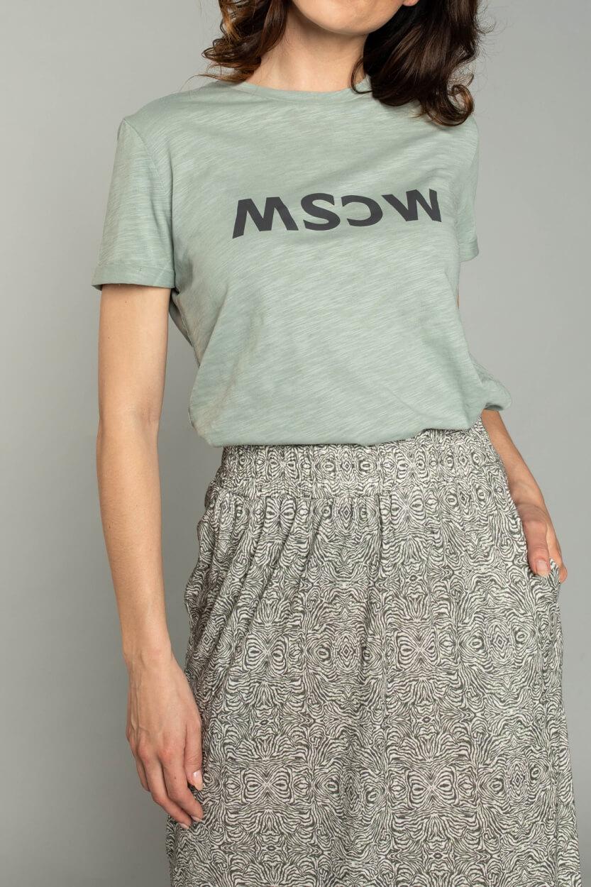 Moscow Dames Gone logo shirt Groen