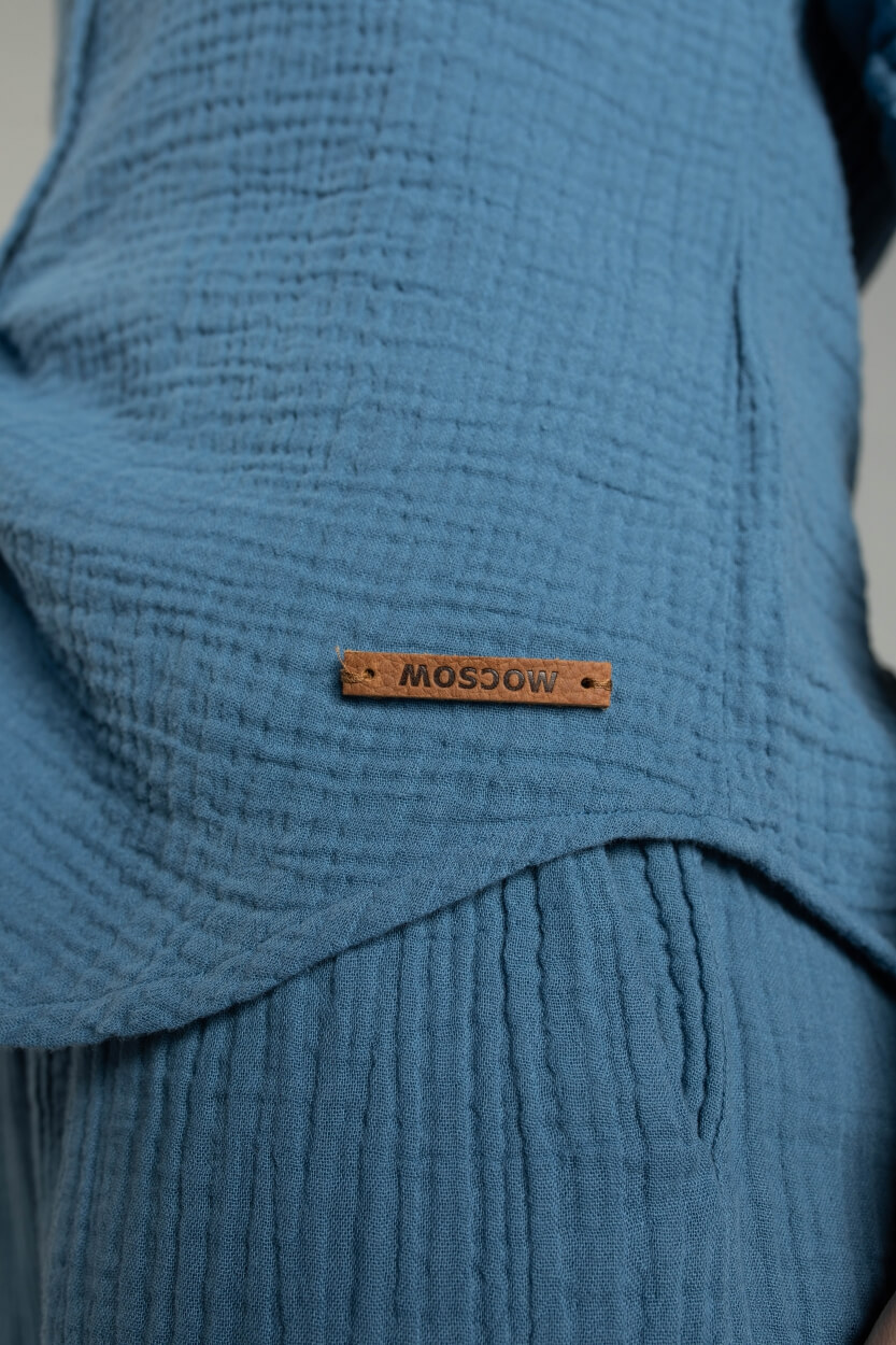 Moscow Dames Patience blouse Blauw