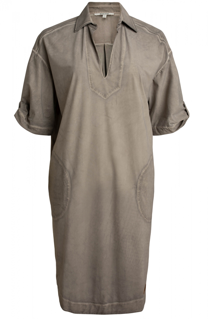 Moscow Dames Love garment dye dress Bruin