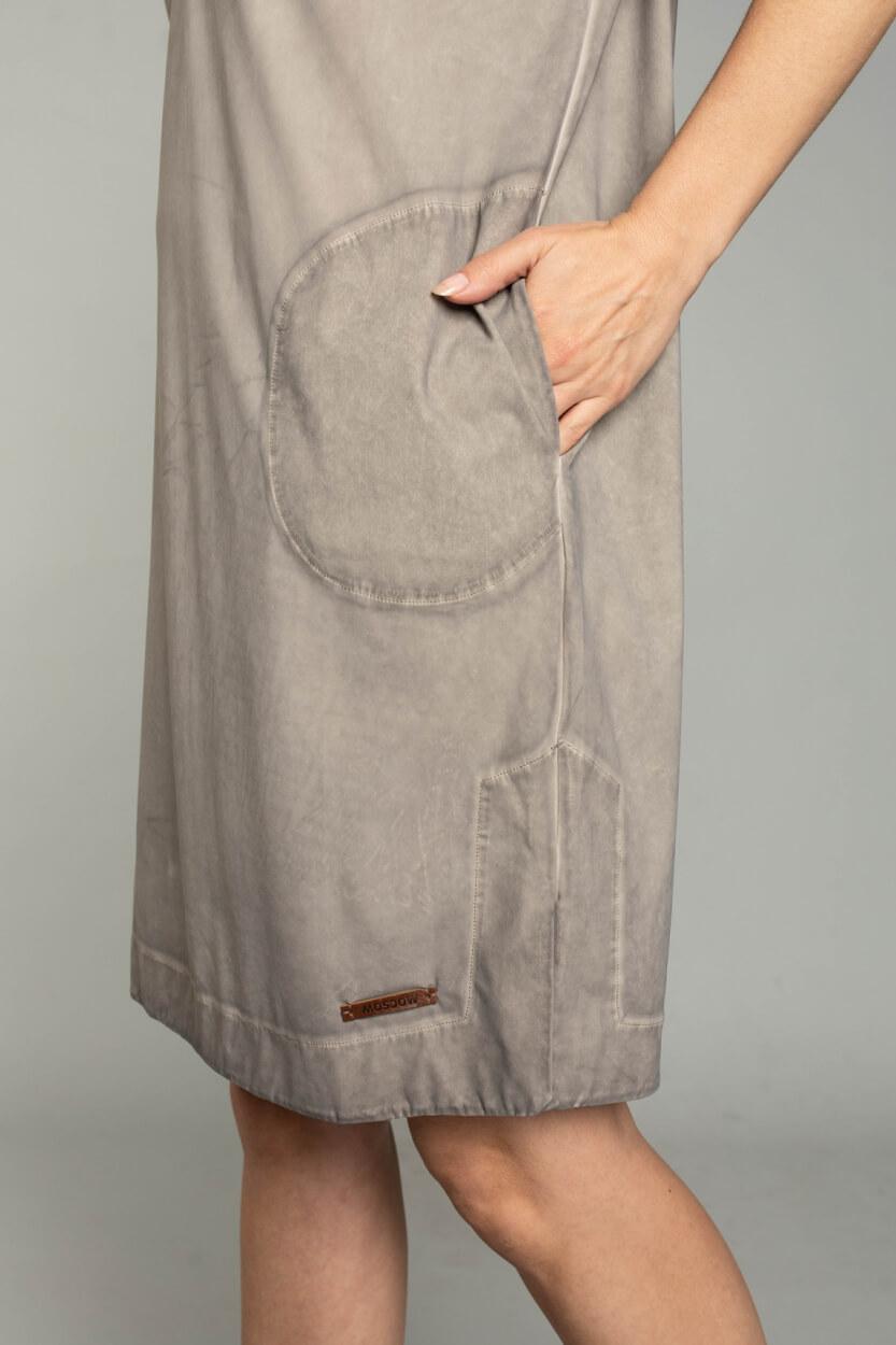 Moscow Dames Love garment dye jurk Bruin