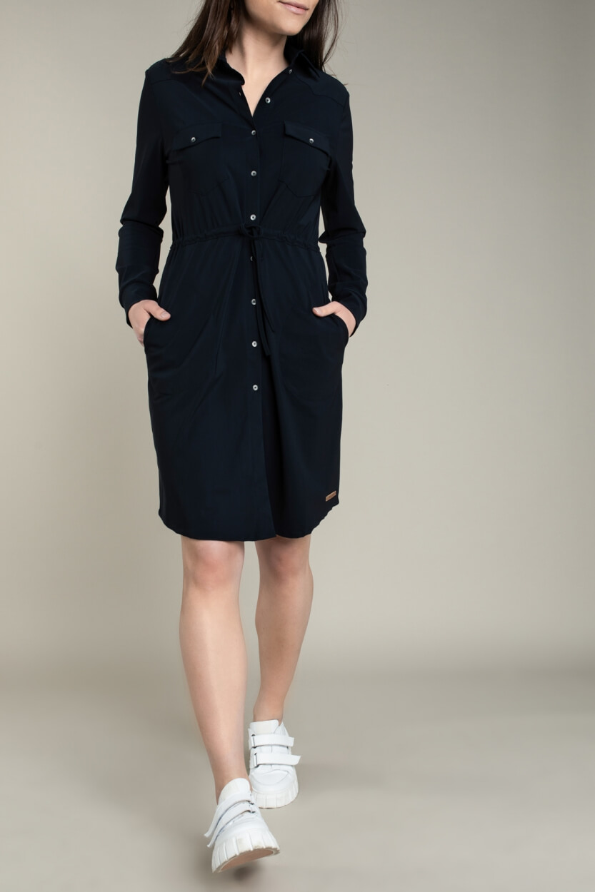 Moscow Dames Levi jersey dress Blauw