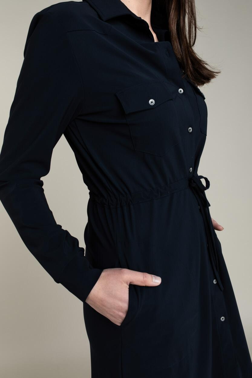 Moscow Dames Levi jersey jurk Blauw