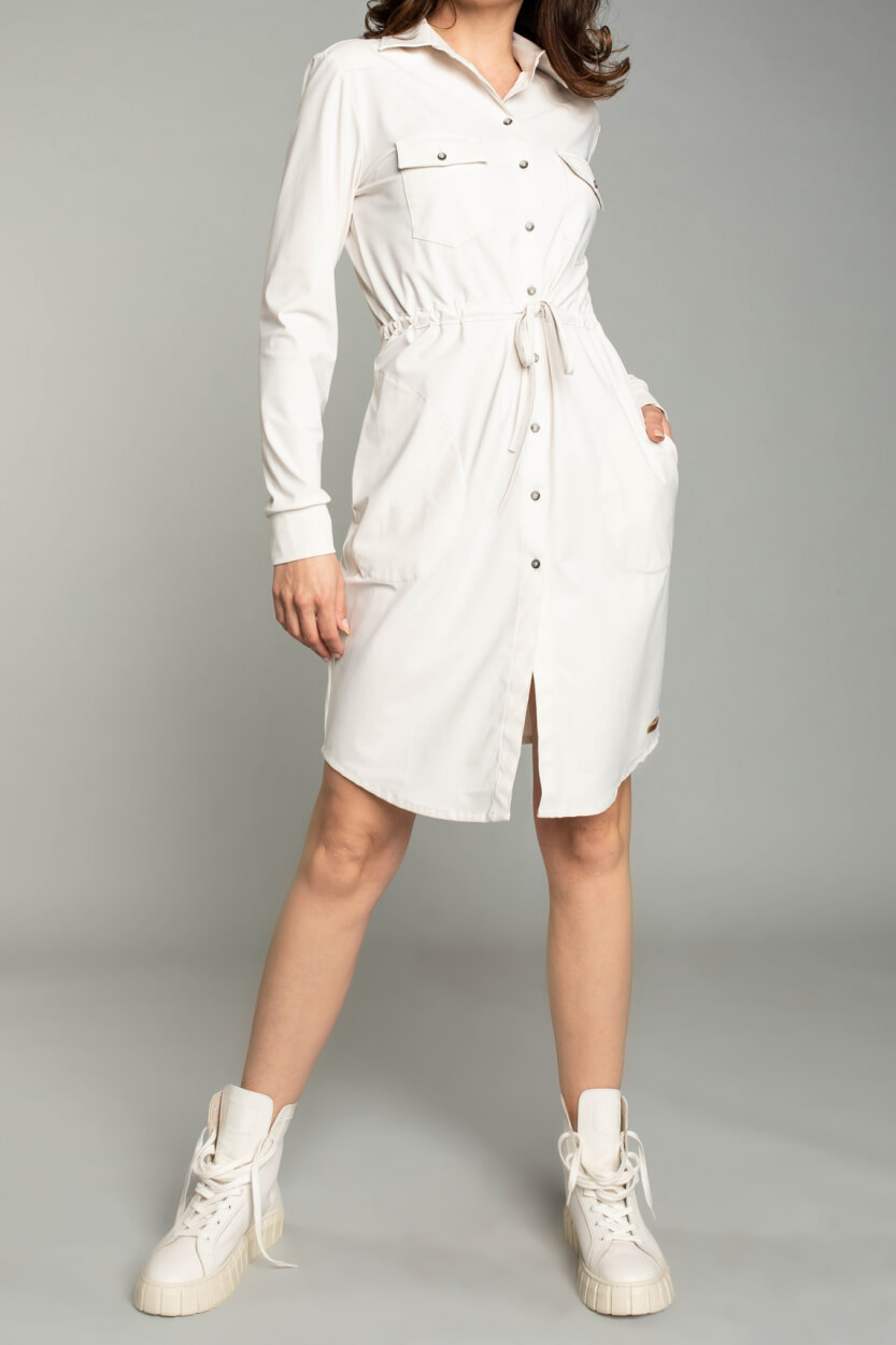Moscow Dames Levi jersey dress Wit