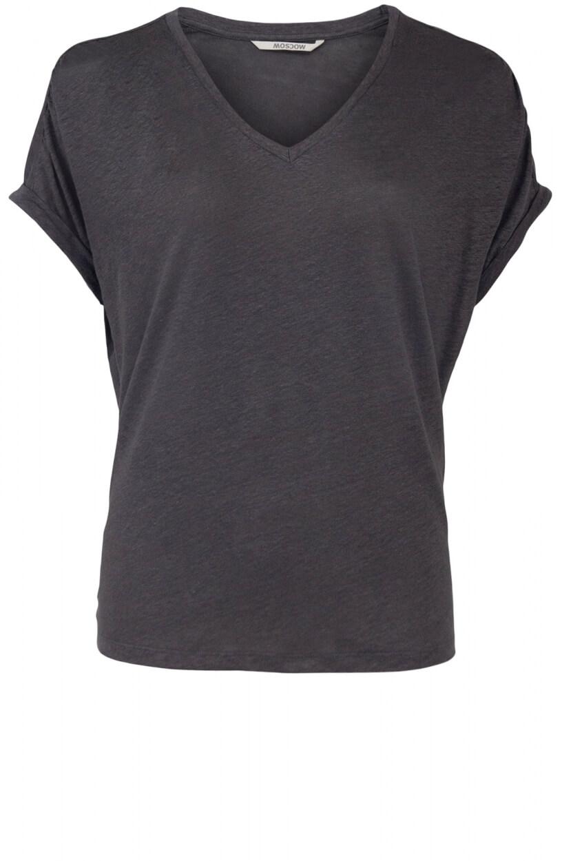 Moscow Dames Greenfield linen shirt Grijs