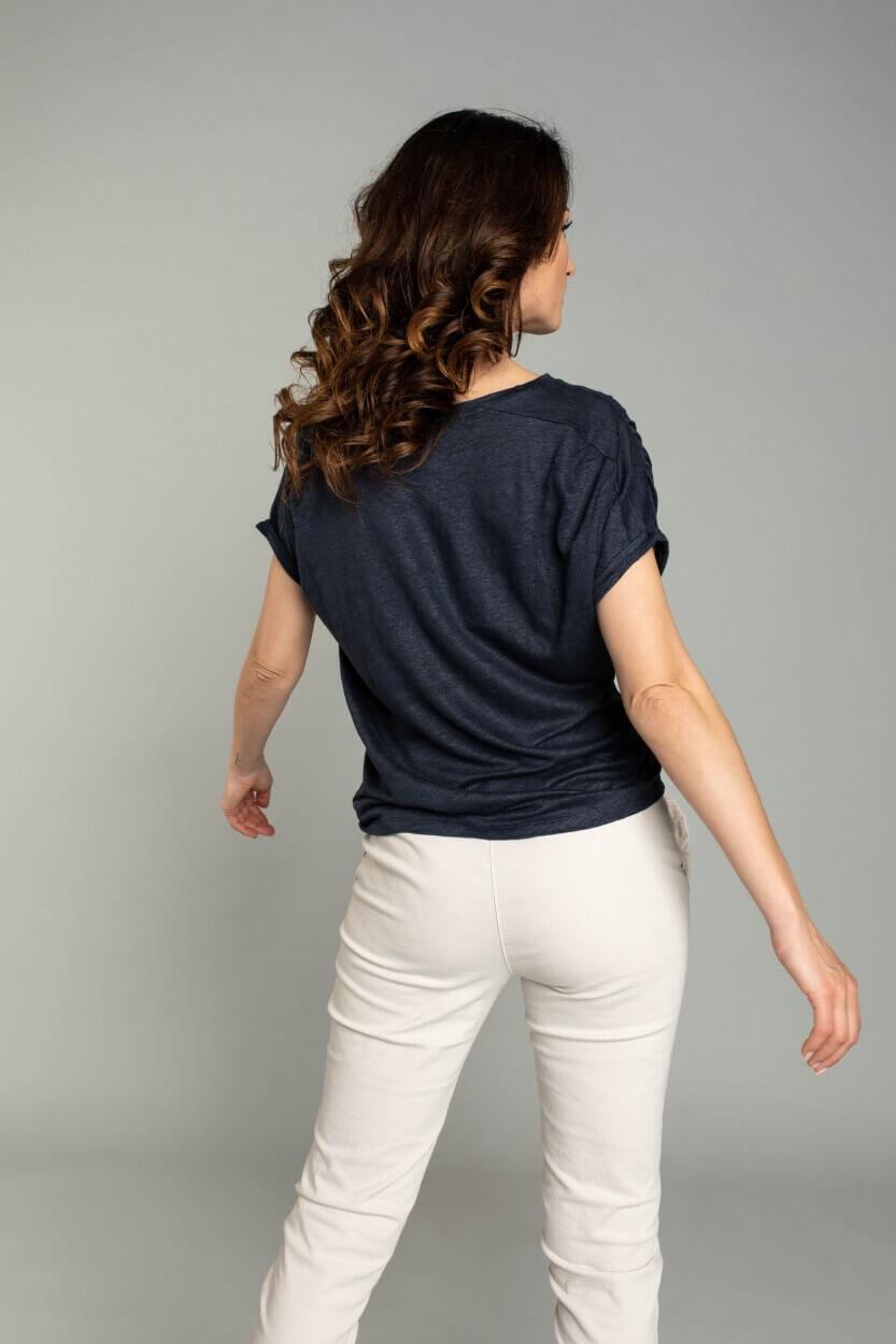 Moscow Dames Greenfield linen shirt Blauw
