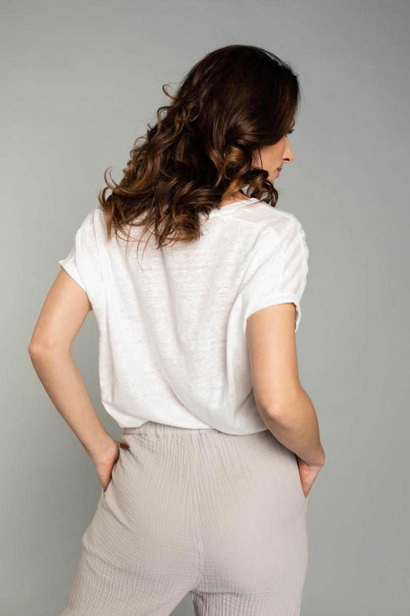 Moscow Dames Greenfield linnen shirt Wit
