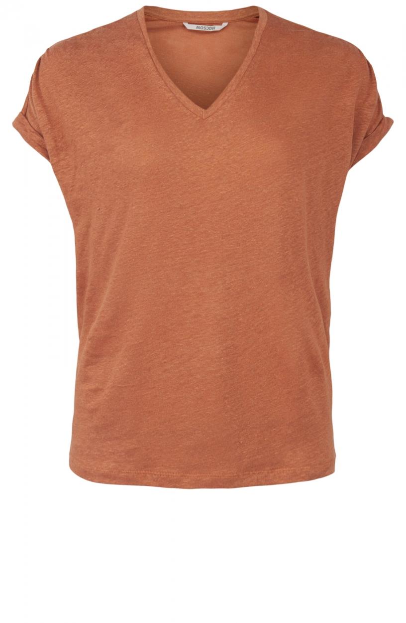 Moscow Dames Greenfield linen shirt Roze