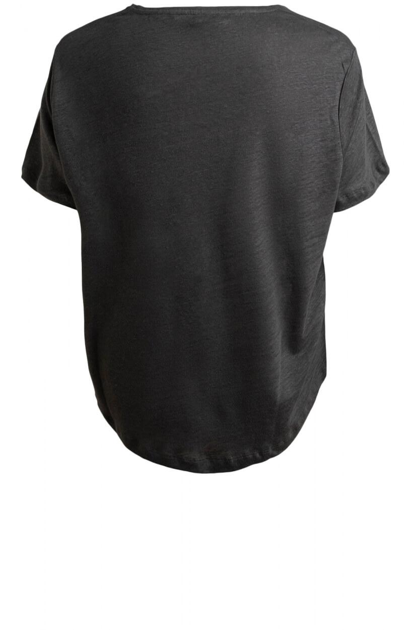 Moscow Dames Daily linen shirt Grijs