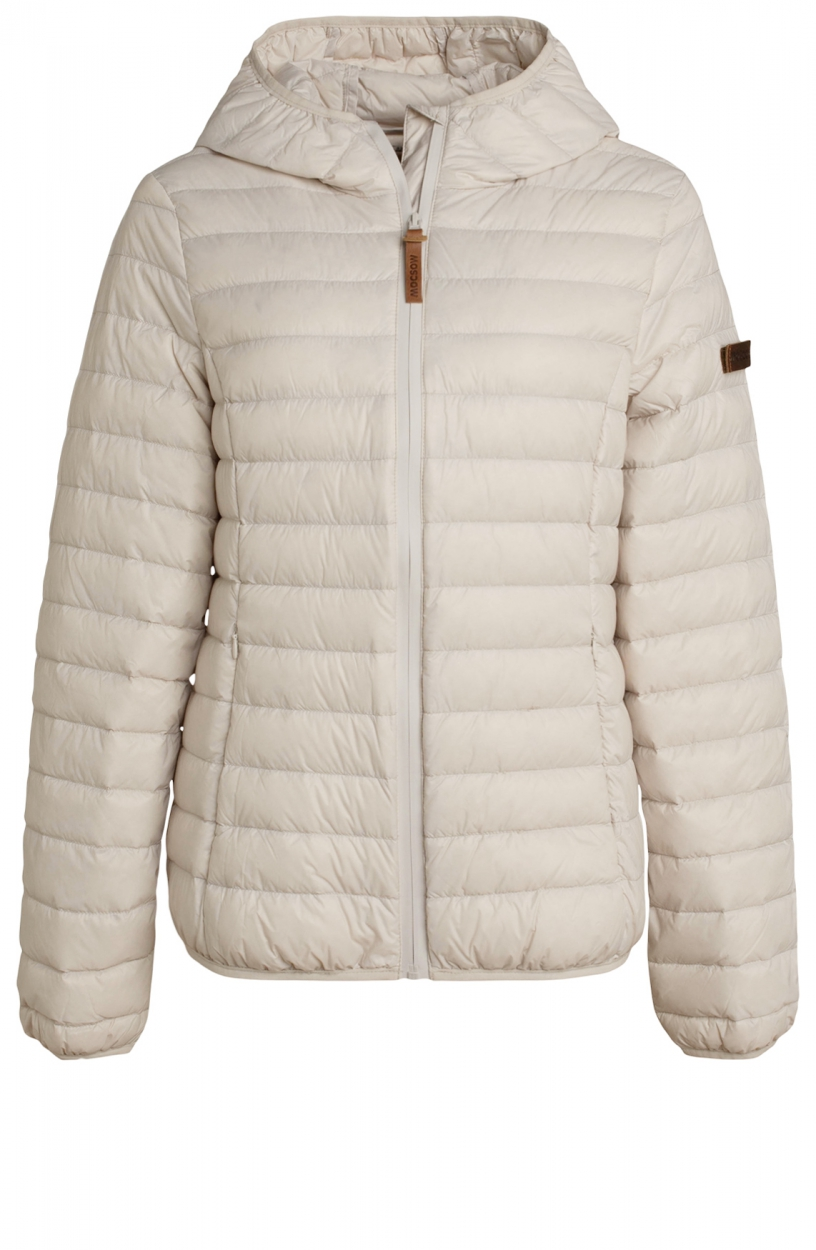 Moscow Dames Edgy down jacket Wit