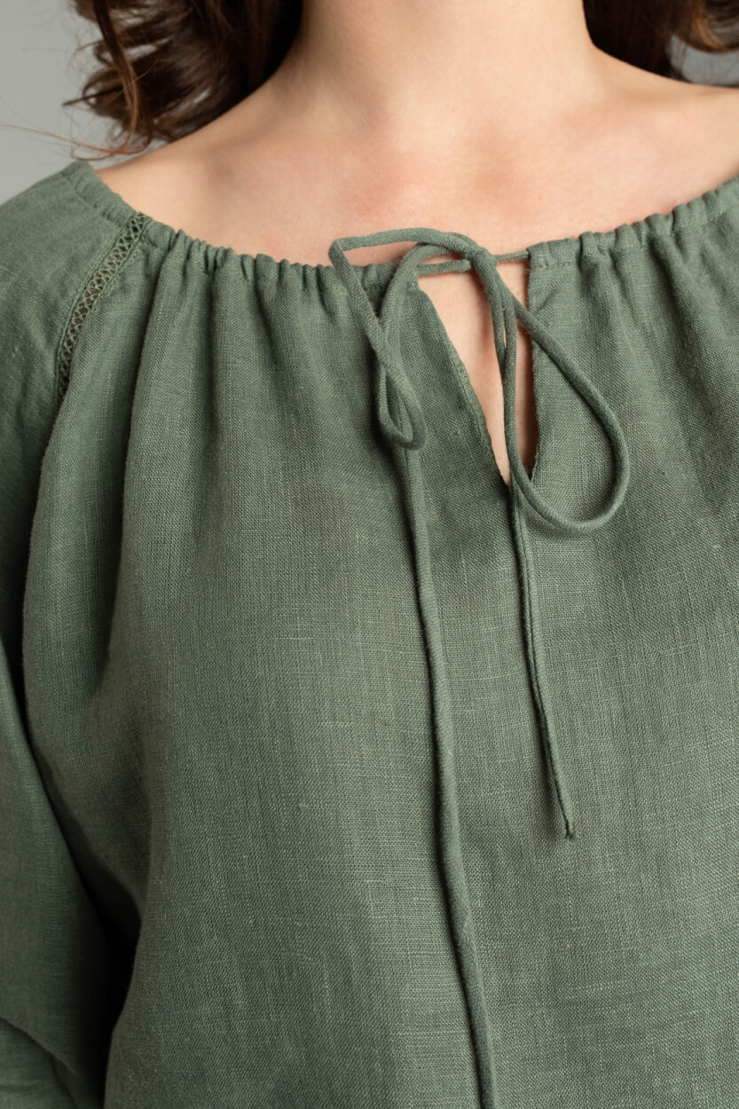 Moscow Dames Wind blouse top Groen