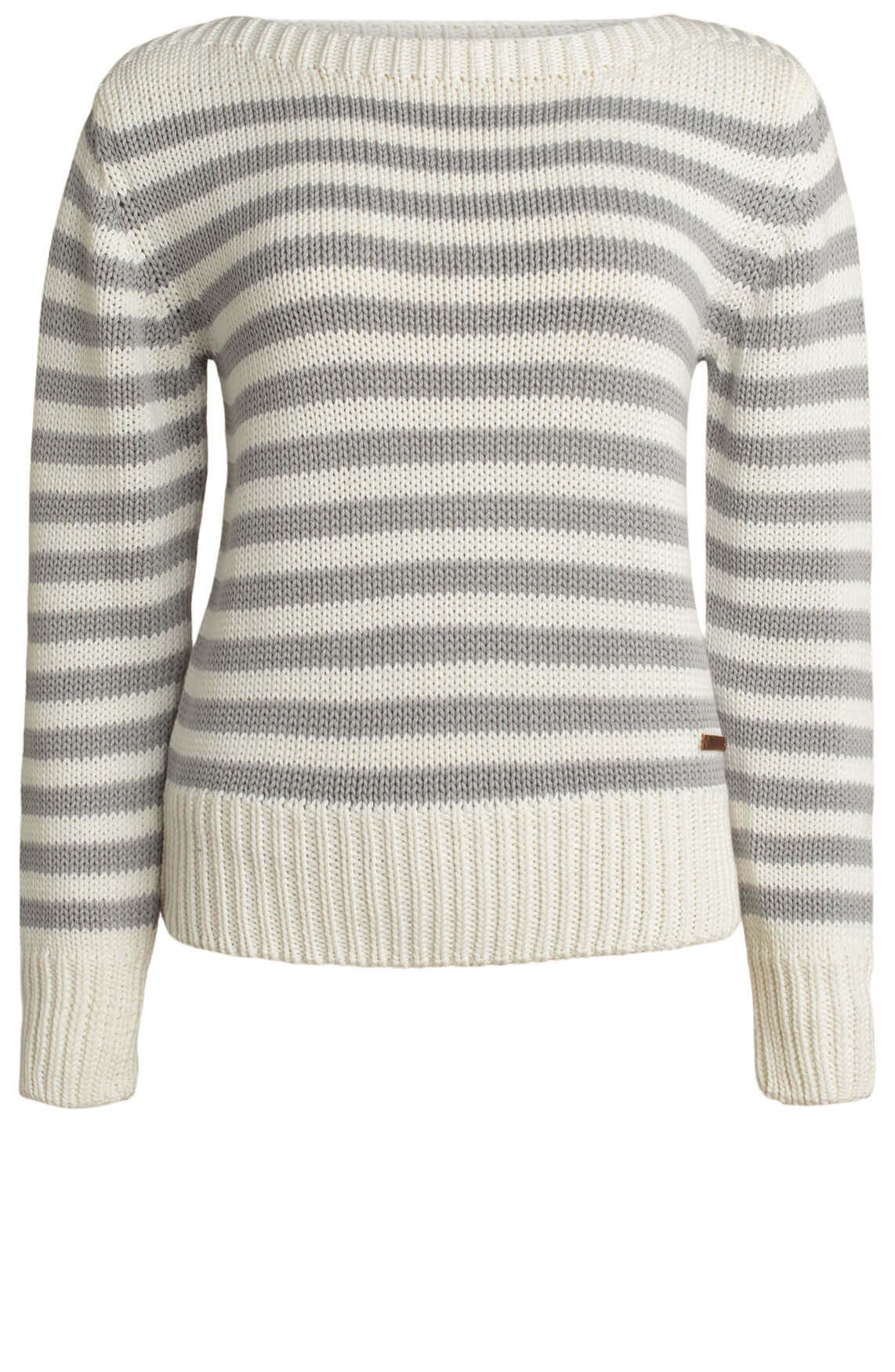 Moscow Dames Daisy striped pullover Grijs