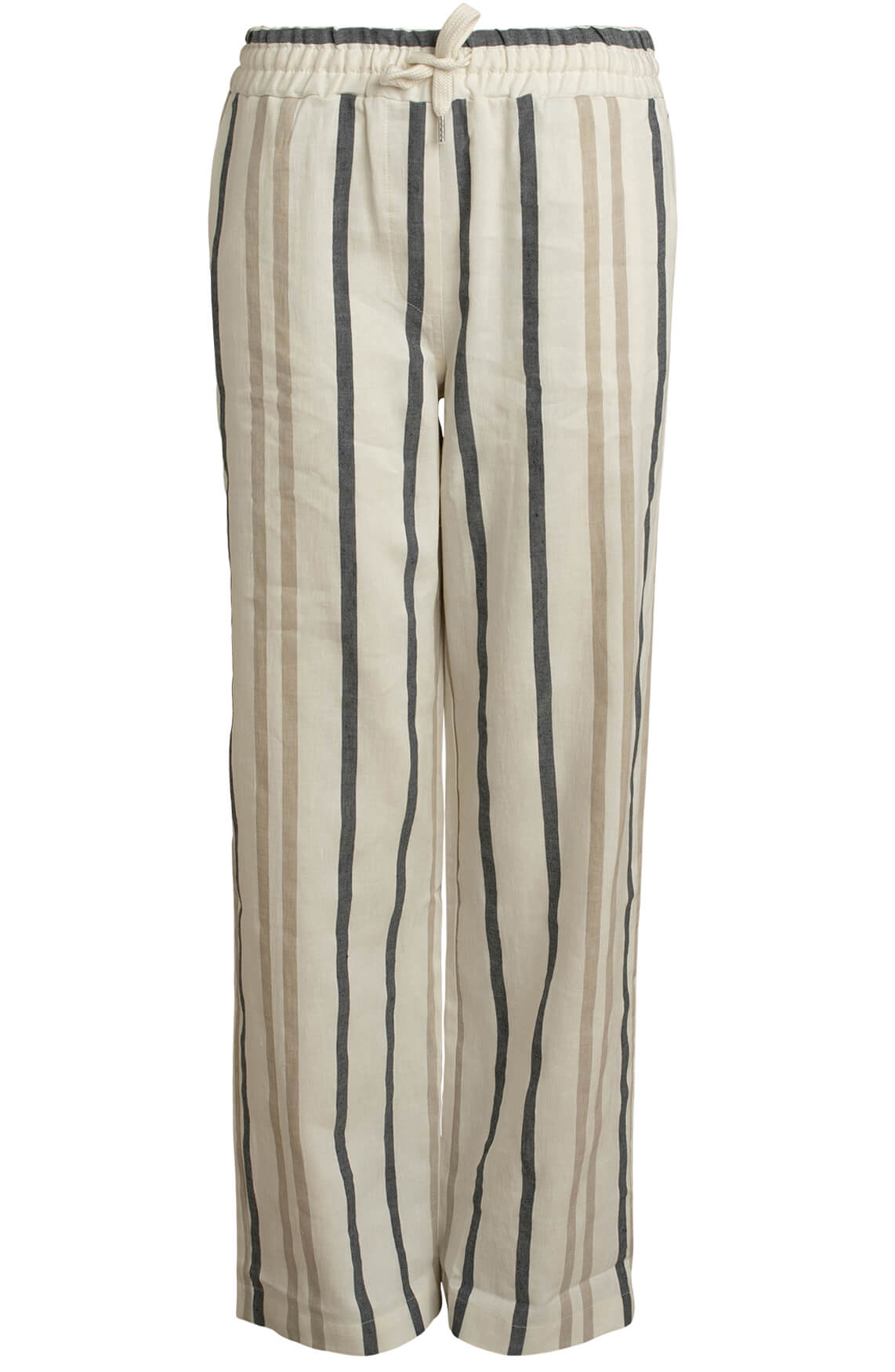 Moscow Dames Percy striped pants Grijs